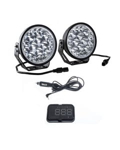 """Kings Domin8r Xtreme 7"""" LED Driving Lights (Pair) + Heads Up Display (HUD) Unit"""