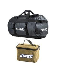 Kings 80L Extra-Large PVC Duffle Bag + Toiletry Canvas Bag