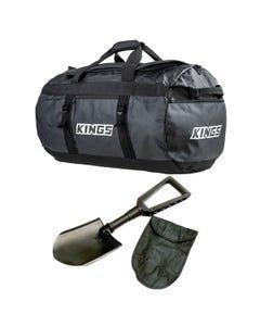 Kings 80L Extra-Large PVC Duffle Bag + Recovery Folding Shovel