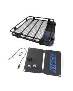 Steel Roof Rack 1/2 Length + Adventure Kings 10W Portable Solar Kit