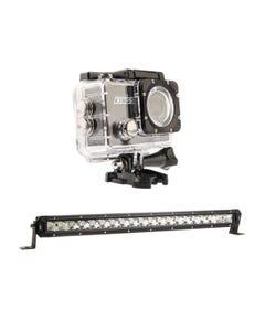"Kings 20"" LETHAL MKIII Slim Line LED Light Bar + Adventure Kings Action Camera"