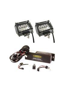 "Adventure Kings 4"" LED Light Bar + Illuminator LED Driving Light Wiring Harness - to fit 9"""