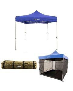 Adventure Kings - Gazebo 3m x 3m + Gazebo Mosquito Net + Roof Top Canvas Bag