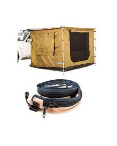 Adventure Kings 2 x 3m Awning Tent + LED Strip Light