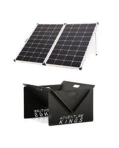 Adventure Kings 250w Solar Panel + Portable Steel Fire Pit