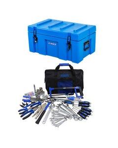 Adventure Kings 78L Tough Tool Box + Tool Kit - Ultimate Bush Mechanic