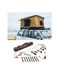 Kings Kwiky MKII Hard Shell Rooftop Tent + Illuminator 4 Bar Camp Light Kit