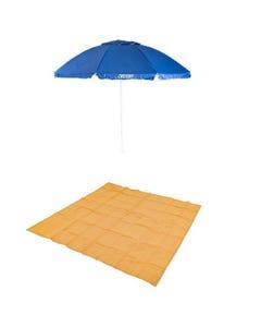 Adventure Kings Beach Umbrella + Mesh Flooring 3m x 3m