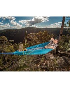 Kings Double Hammock   2m x 1.5m Size   250kg Weight Rating   Inc. Tree-Hanging Kit & Transit Bag