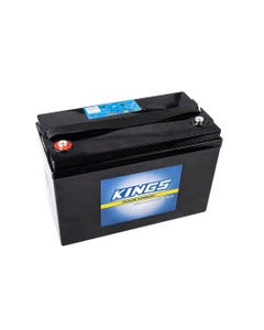 Kings 115AH 12v AGM Deep Cycle Battery | 5x Faster Recharging | Maintenance-Free | 12 Month Warranty