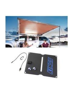 2.5 x 2.5m 2 in 1 Awning + Strip Light  + 10W Portable Solar Panel