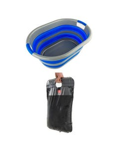 Adventure Kings Solar Shower + Adventure Kings Collapsible Laundry Basket