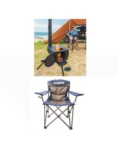 Adventure Kings Camp Oven/Stove + Adventure Kings Throne Camping Chair