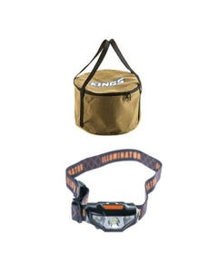 Adventure Kings Camp Oven Canvas Bag + LED Head Torch