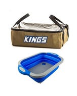 Adventure Kings Clear Top Canvas Bag + Collapsible Sink