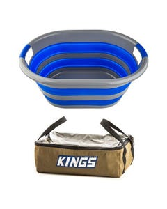 Adventure Kings Clear Top Canvas Bag + Collapsible Laundry Basket