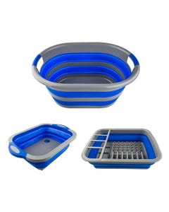 Adventure Kings Collapsible Sink + Collapsible Laundry Basket + Collapsible Dish Rack
