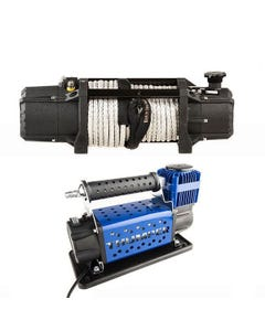 Domin8r Xtreme 12,000lb Winch + Thumper Air Compressor MkIII
