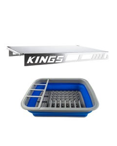 Adventure Kings Drawer Table suitable for 900mm & 1300mm Titan Drawers + Collapsible Dish Rack
