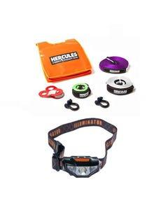Hercules Essential Nylon Recovery Kit + Illuminator LED Head Torch