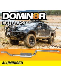 Domin8r Aluminised Exhaust Suitable For Holden Colorado RG 2.8L 07/2016+ (DPF Back)