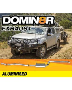Domin8r Aluminised Exhaust Suitable For Isuzu D-MAX RT 3.0L 11/2016+ (DPF Back) - Suits 4x4 Models Only