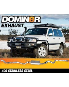 Domin8r Stainless Steel Exhaust Suitable For Toyota Landcruiser HDJ100R 4.2L 1 HD-FTE 2000-2007 (Turbo Back)