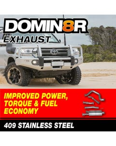 Domin8r Stainless Steel Exhaust Suitable For Toyota Landcruiser 200 Series 4.5L V8 Twin Turbo 8/2015 Onwards (DPF Back)