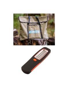 Kings Portable Fire Pit Bag +  Kings LED Work Light