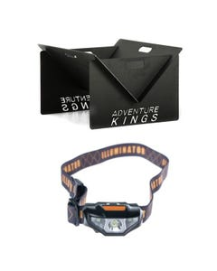 Kings Portable Steel Fire Pit + Illuminator LED Head Torch