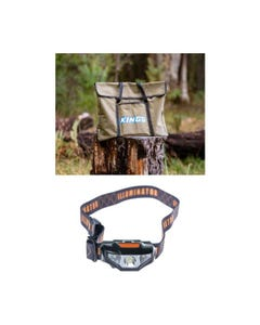 Fire Pit Canvas Bag + Kings LED Head Torch
