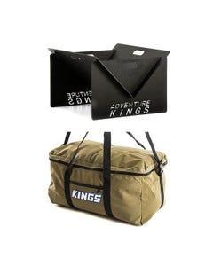 Adventure Kings Portable Steel Fire Pit + Canvas Travel Bag