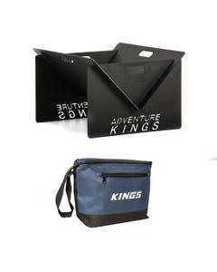 Adventure Kings Portable Steel Fire Pit + Kings 8L Cooler Bag