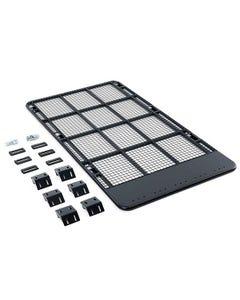 Steel Flat Rack suitable for 100/105 Series LandCruiser   Inc. Mounts   Powdercoated