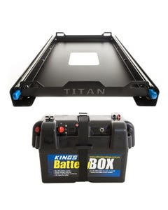 Titan Small Fridge Slide + Kings Battery Box Portable