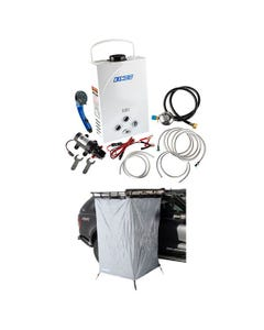 Kings Portable Gas Hot Water System  + Kings Instant Ensuite Awning Shower Tent