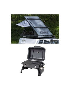 Adventure Kings Grand Tourer Roof Top Tent + Gasmate Voyager Portable BBQ