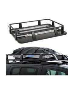Steel Single Cab Roof Rack + Half-Length Premium Waterproof Rooftop Bag