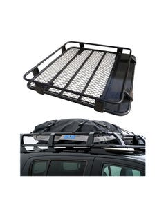 Steel Roof Rack 1/2 Length + Half-Length Premium Waterproof Rooftop Bag