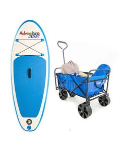 Kids Inflatable Stand-Up Paddle Board + Adventure Kings Beach Cart