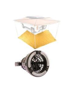King Wing Mesh Floor + 2in1 LED Light & Fan