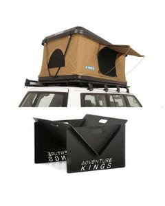 Kings Kwiky MKII Hard Shell Rooftop Tent + Kings Portable Steel Fire Pit