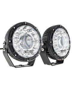 "Kings 7"" Laser Driving Lights (Pair) | 1 Lux @987m | 8152 Lumens | 2 Year Warranty"
