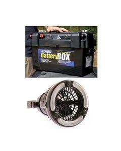 Adventure Kings Maxi Battery Box + 2in1 LED Light & Fan