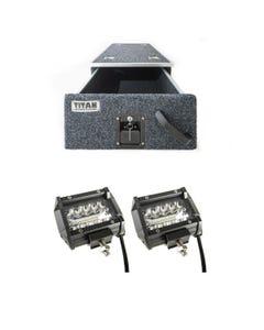 "Titan Single Drawer 900mm + 4"" LED Light Bar (Pair)"