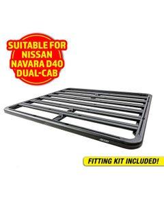 Adventure Kings Aluminium Platform Roof Rack Suitable for Nissan Navara D40 Dual-Cab 2005-2015