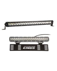 "Kings 20"" LETHAL MKIII Slim Line LED Light Bar + 15"" Numberplate LED Light Bar"