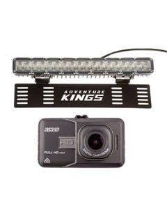"Dash Camera + Kings 15"" Numberplate LED Light Bar"