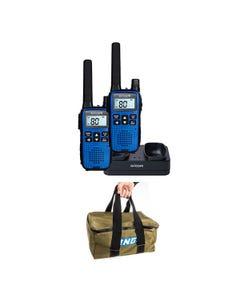 Oricom Handheld UHF CB Radio Twin Pack - UHF2190 + Adventure Kings Canvas Recovery Bag
