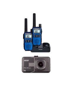Adventure Kings Dash Camera + Oricom Handheld UHF CB Radio Twin Pack - UHF2190